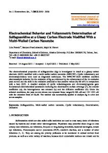 Electrochemical Behavior and Voltammetric Determination of ...