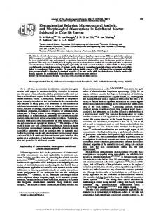 Electrochemical Behavior, Microstructural Analysis, and Morphological ...