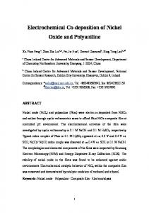 Electrochemical Co-deposition of Nickel Oxide and Polyaniline - Core