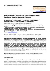 Electrochemical Corrosion and Electrical Resistivity of Reinforced