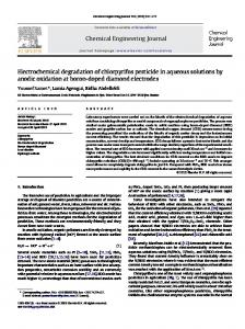 Electrochemical degradation of chlorpyrifos pesticide ...