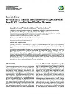 Electrochemical Detection of Phenanthrene Using Nickel Oxide
