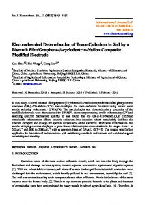 Electrochemical Determination of Trace Cadmium in Soil by a Bismuth ...