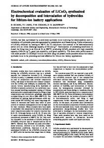 Electrochemical evaluation of LiCoO2 synthesized by ... - MIT