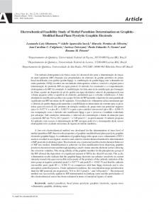 Electrochemical feasibility study of methyl parathion determination on ...