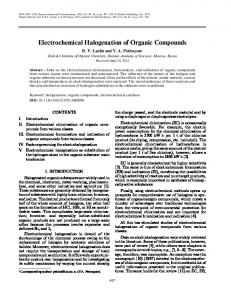 Electrochemical Halogenation of Organic Compounds - Springer Link