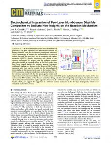 Electrochemical Interaction of Few-Layer ... - ACS Publications