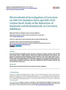 Electrochemical Investigation of Corrosion on AISI 316 Stainless Steel ...