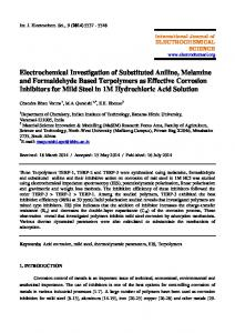 Electrochemical Investigation of Substituted Aniline, Melamine and ...