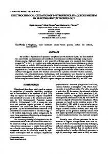 electrochemical oxidation of 2-nitrophenol in aqueous medium by