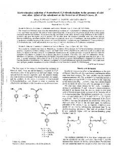 Electrochemical oxidation of 4-substituted N,N-dimethylaniline in the