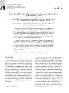 Electrochemical oxidation of chlorhexidine and its amperometric ...