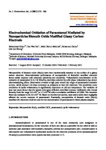 Electrochemical Oxidation of Paracetamol Mediated by Nanoparticles ...