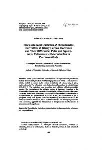 Electrochemical Oxidation of Phenothiazine