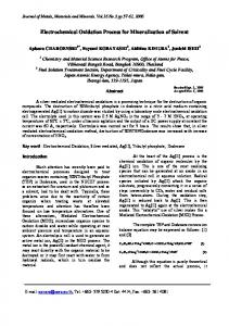 Electrochemical Oxidation Process for Mineralization of Solvent