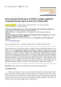 Electrochemical Performance of Ni20Cr Coatings Applied by