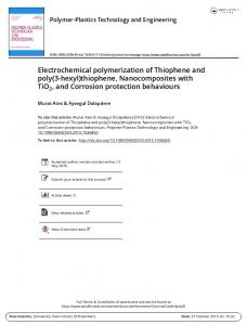 Electrochemical polymerization of Thiophene and