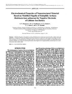 Electrochemical Properties of Nanostructured Material ... - Springer Link