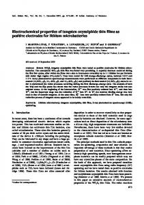 Electrochemical properties of tungsten oxysulphide thin films as ...