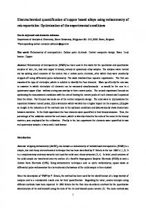 Electrochemical quantification of copper based alloys using ...