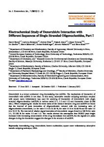 Electrochemical Study of Doxorubicin Interaction with Different ...