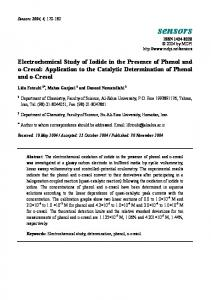 Electrochemical Study of Iodide in the Presence of Phenol and ... - MDPI
