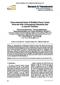 Electrochemical Study of Modified Glassy Carbon Electrode with