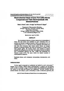 Electrochemical Study of Some New Sulfa-nitrone Compounds and ...