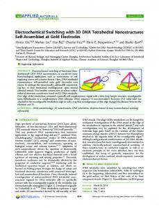 Electrochemical Switching with 3D DNA Tetrahedral Nanostructures ...