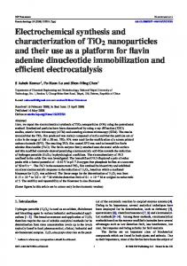 Electrochemical synthesis and characterization of ... - Semantic Scholar