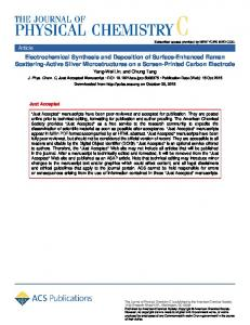 Electrochemical Synthesis and Deposition of ... - ACS Publications