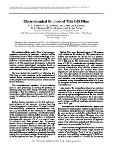 Electrochemical synthesis of thin CdS films - Springer Link