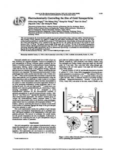 Electrochemically Controlling the Size of Gold Nanoparticles (PDF ...