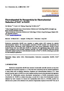 Electrodeposited Ru Nanoparticles for Electrochemical Reduction of ...