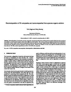 Electrodeposition of Ni composites and nanocomposites from ...