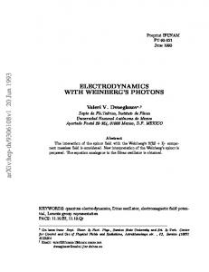 Electrodynamics with Weinberg's Photons
