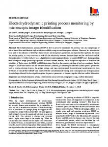 Electrohydrodynamic printing process monitoring by microscopic