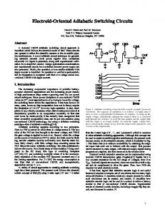 Electroid-Oriented Adiabatic Switching Circuits