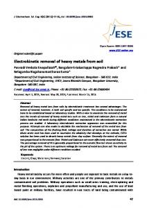 Electrokinetic removal of heavy metals from soil