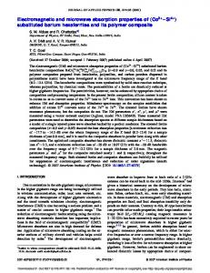 Electromagnetic and microwave absorption properties