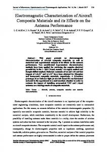 Electromagnetic Characterization of Aircraft Composite Materials and ...