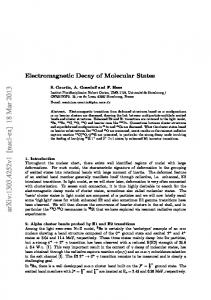 Electromagnetic Decay of Molecular States