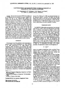 Electromagnetic ELF radiation from earthquake ... - Wiley Online Library