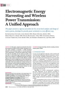 Electromagnetic Energy Harvesting and Wireless Power ... - IEEE Xplore