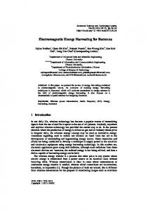 Electromagnetic Energy Harvesting for Rectenna - onlinepresent.org