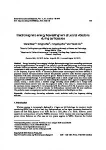 Electromagnetic energy harvesting from structural ...