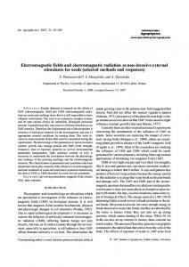 Electromagnetic fields and electromagnetic radiation as non-invasive ...