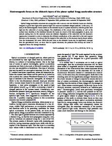 Electromagnetic forces on the dielectric layers of the planar optical ...