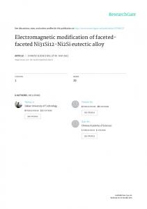 Electromagnetic modification of faceted- faceted ...