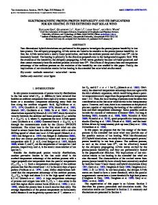 electromagnetic proton/proton instability and its ... - IOPscience